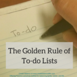The Golden Rule of To-do Lists